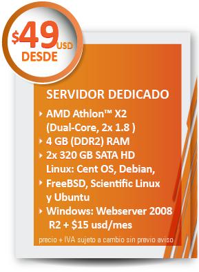 servidor dedicado 49usd